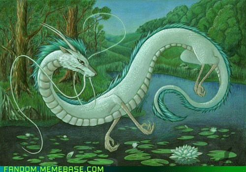 anime,Fan Art,Haku,movies,spirited away