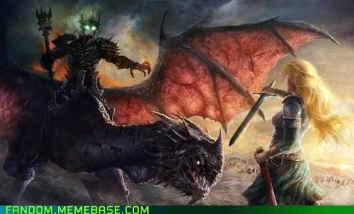 eowyn Fan Art Lord of the Rings Nazgul King - 5937177600