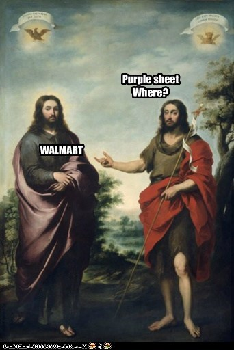 Purple sheet Where? WALMART