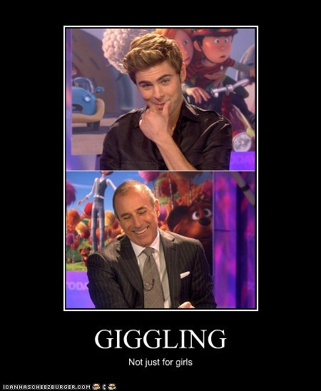 GIGGLING Not just for girls