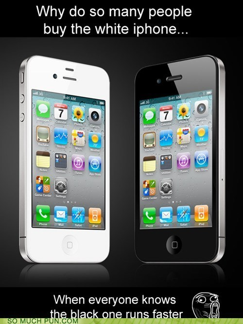 black color iphone runs stereotype white - 5937422592
