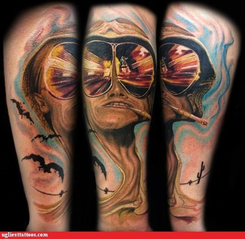 Hall of Fame Hunter S Thompson tattoo WIN we-cant-stop-here