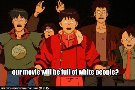 our movie will be full of white people?