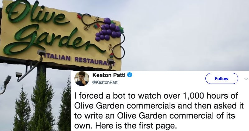 twitter technology restaurant olive garden ridiculous food funny - 5937669