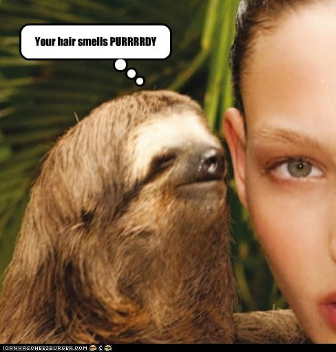 creepy,ew,gross,hair,romance,sloth,smell