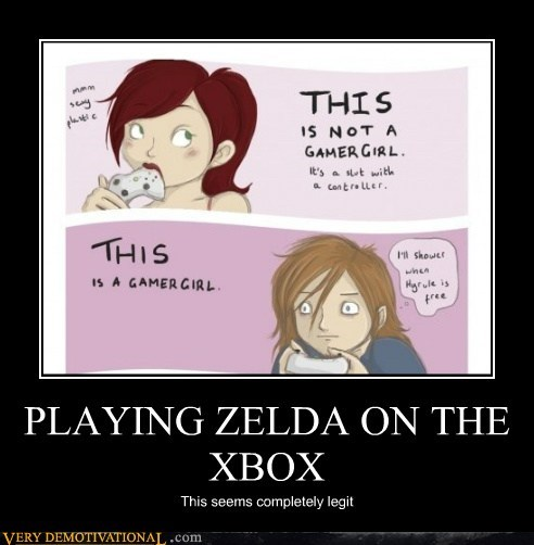 gamer,girl,hilarious,wrong,xbox,zelda
