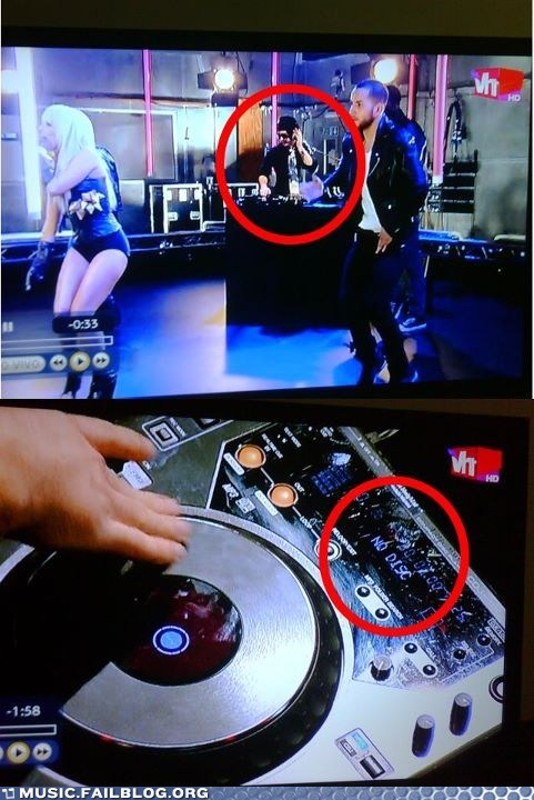 disc,dj,fake dj,lady gaga,live,screencap