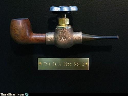 faucet,pipe,smoke,tobacco