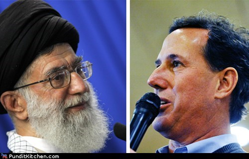 ayatollah khamenei christianity election 2012 iran islam political pictures Rick Santorum - 5938352640
