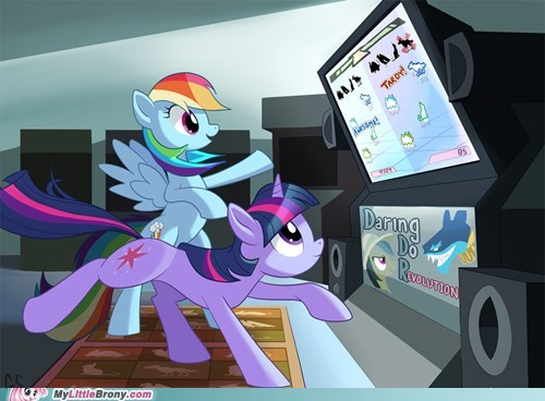 art dance dance revolution daring do ddr rainbow dash twilight sparkle - 5938523904