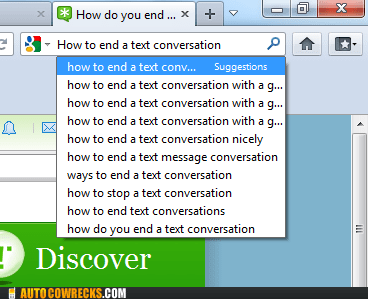 autocomplete,ending text conversation,google