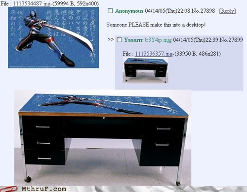 awesome desk desktop ninja