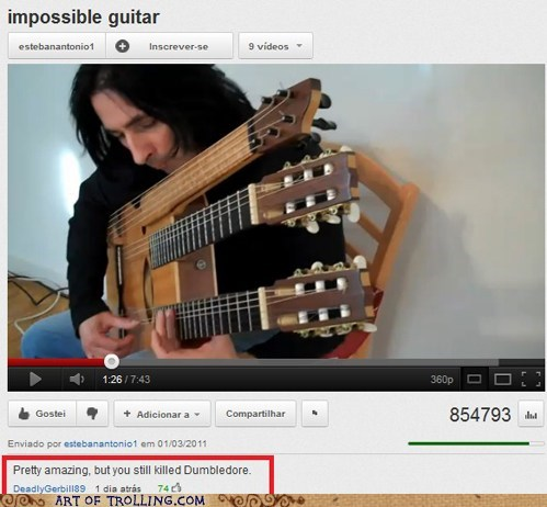 dumbledore guitar snape youtube - 5938791936
