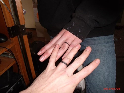 finger tattoos marriage til death do us part wedding rings - 5938921984