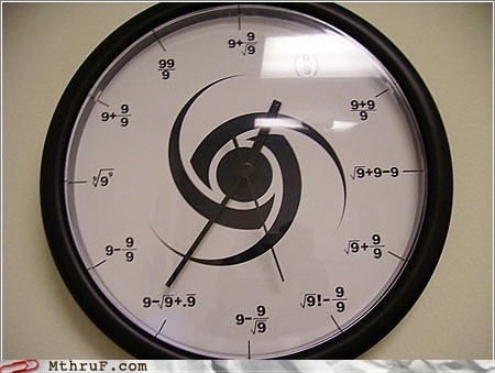 clocks math monday thru friday g rated