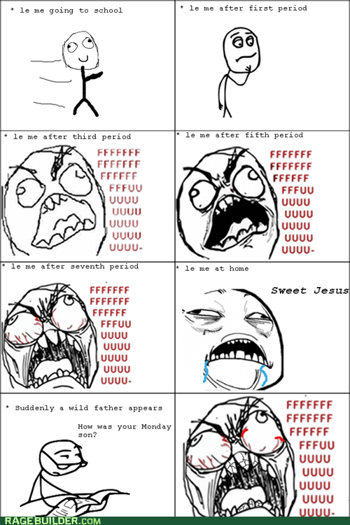fu guy,Rage Comics,sweet jesus have mercy,truancy story