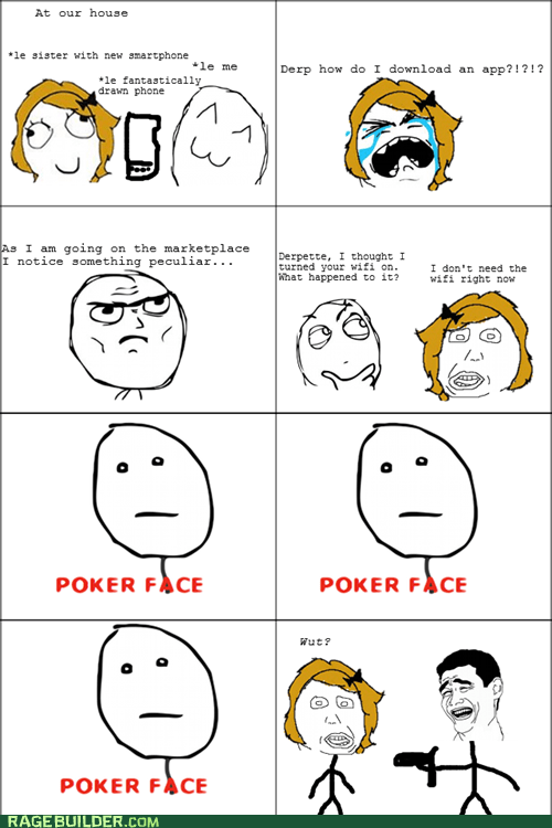 dumb poker face Rage Comics smart phone women - 5939098368