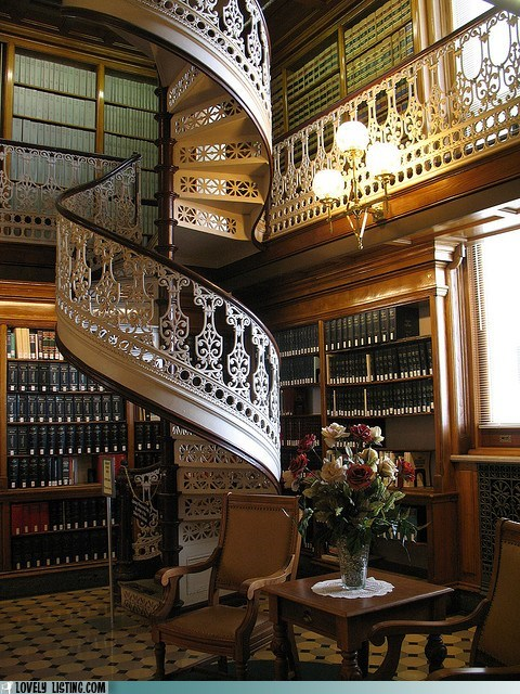 books,library,matching,spiral staircase