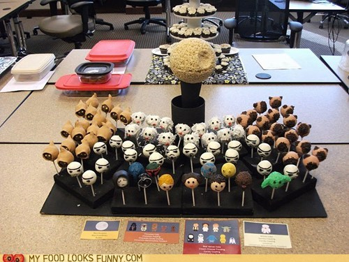 cake pops Death Star rice krispy treats star wars - 5939538432