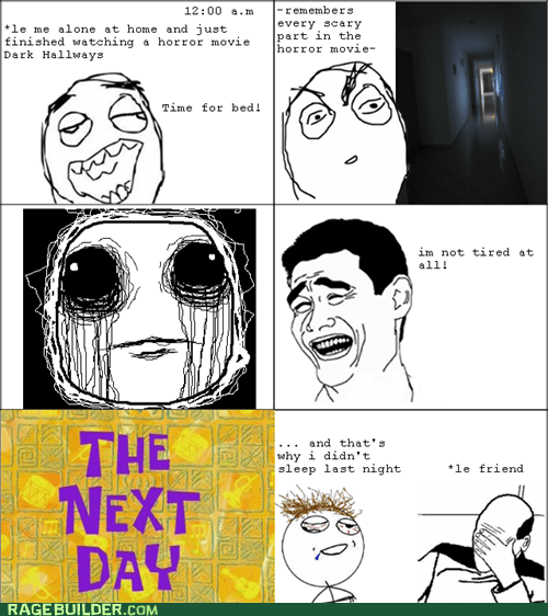 challenge completed,horror movie,picard facepalm,Rage Comics