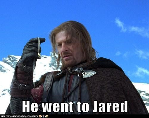 Boromir,commercial,Jared,Lord of the Rings,sean bean,the one ring