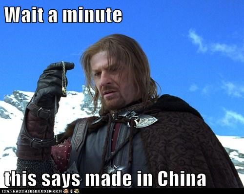 Boromir Lord of the Rings made in china sean bean the one ring wait a minute