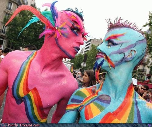 Avatar,body paint,costume,paint,parade,rainbow