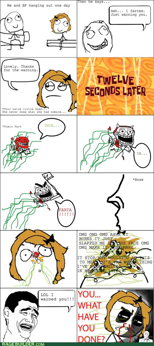 fart omg run Rage Comics relationships