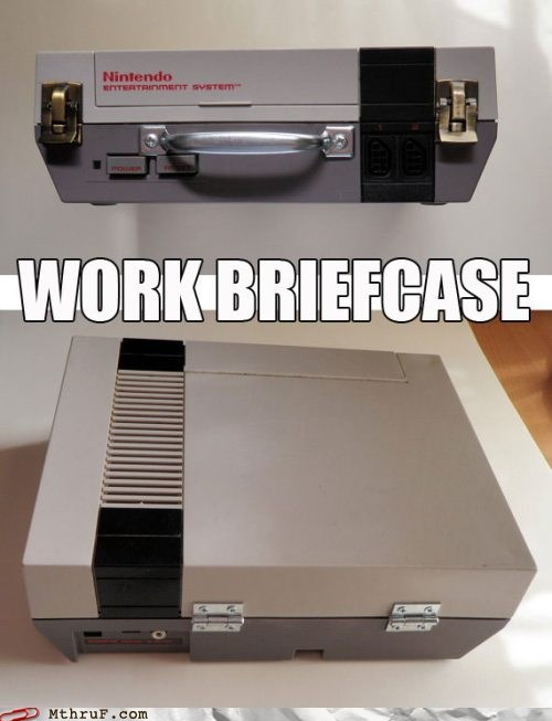 briefcase Hall of Fame NES nintendo original nes work briefcase - 5940376064