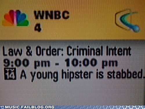 hipster,law and order,television,TV