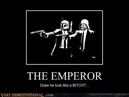 emperor,hilarious,pulp fiction,star wars