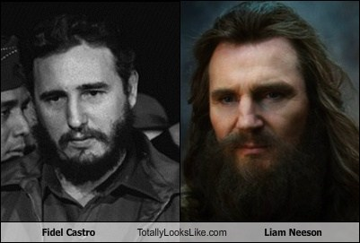 actor,celeb,Fidel Castro,funny,Hall of Fame,liam neeson,TLL