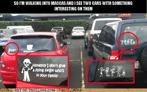 car family honestly IRL sticker - 5941113088