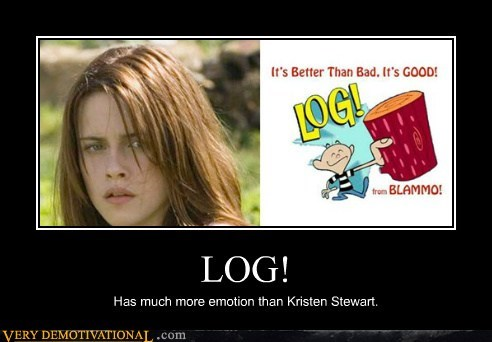 expressions,hilarious,kristen stewart,log,twilight