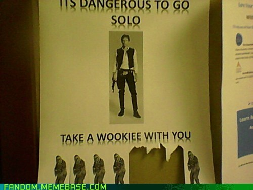 Han Solo It Came From the Interwebz scifi star wars wookie - 5942367232