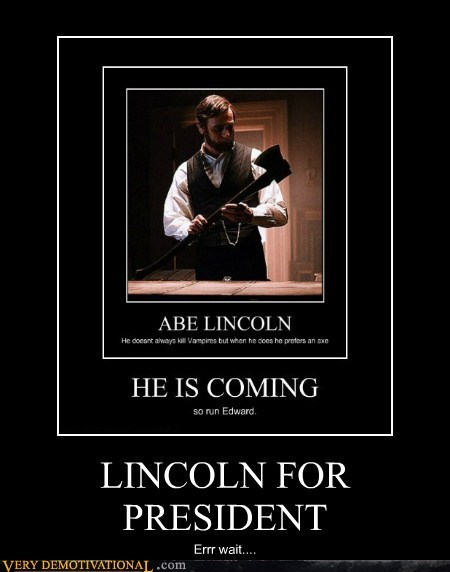 Abe Lincoln hilarious president vampire hunter - 5942731776