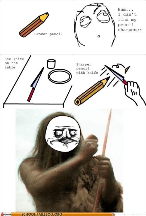 fashioning tools pencil sharpener primitive man - 5942895104