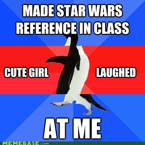awesome,double,girls,socially awkward penguin,star wars,triple