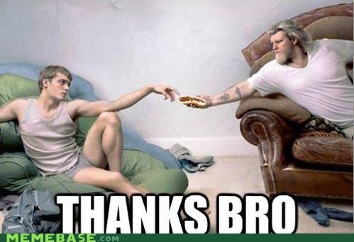 bro frats god hot dog Memes