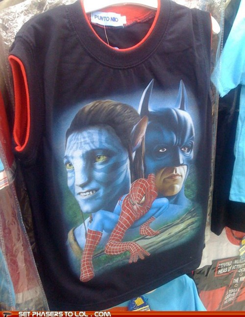 Avatar,avengers,batman,puerto rico,seems legit,shirt,Spider-Man