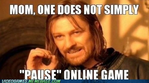 meme,Multiplayer,one does not simply,online game,pause