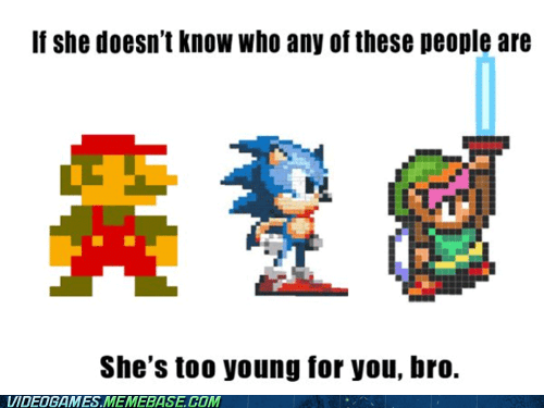 mario maybe you should break up meme shes-too-young sonic zelda - 5943402752