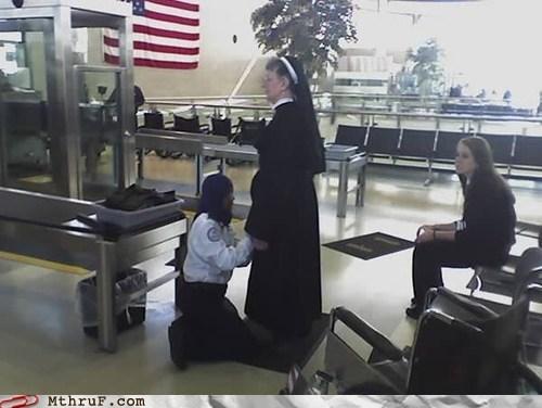 airport guard Hall of Fame nun search TSA - 5943448064