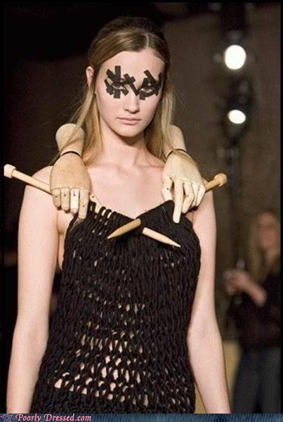creepy dress Hall of Fame hands knits knitting - 5943459840