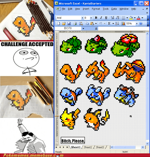 art computer excel first generation kanto Office - 5943465728