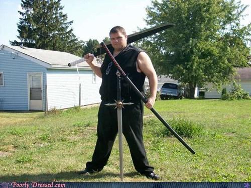 BAMF cosplay nerds so hardcore swords - 5943654144