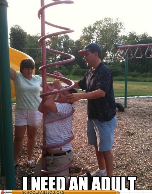 g rated i need an adult playground School of FAIL stuck on the play structu stuck on the play structure
