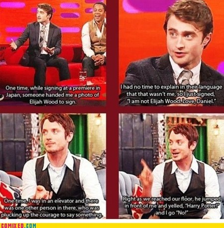 best of week celeb celebutard Daniel Radcliffe elijah wood frodo Harry Potter Lord of the Rings