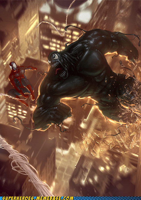 Awesome Art huge Spider-Man Venom wtf - 5943964160