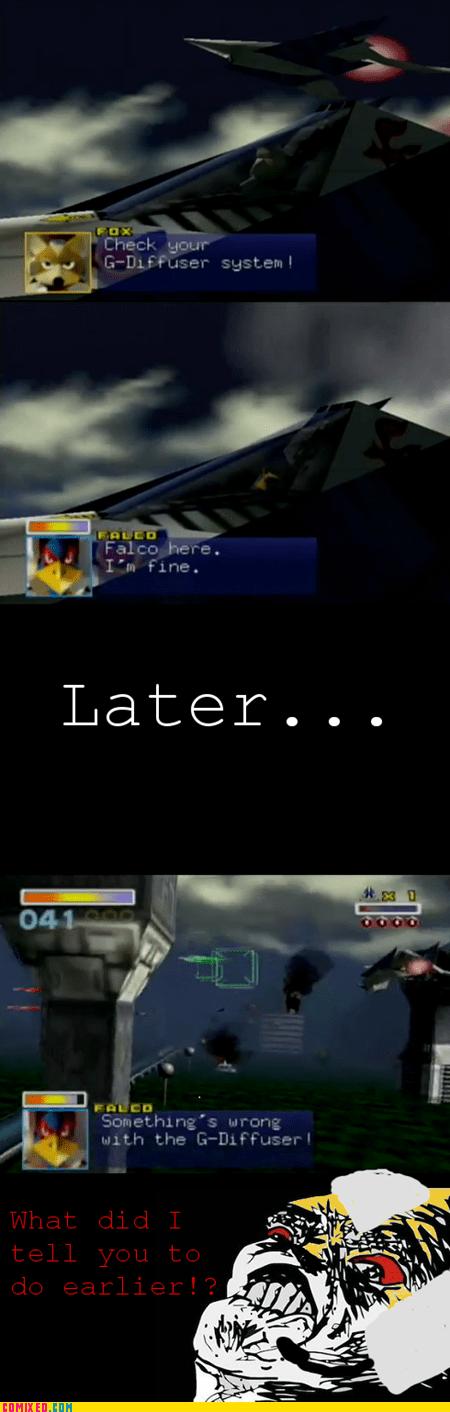 falco star fox 64 video game video games - 5943984384